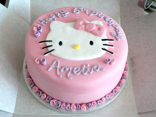 Hello Kitty Birthday Cake Cakey Goodness