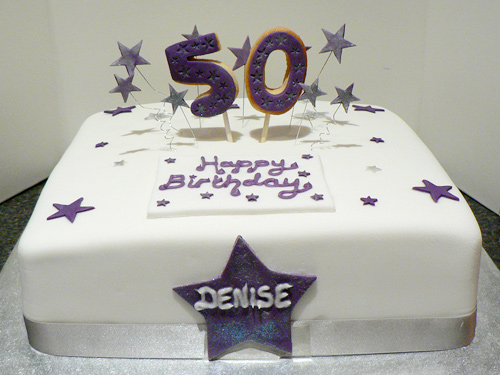 50th Birthday Cake Cakey Goodness