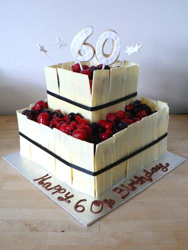 Cake Design 60th Birthday : 60th Birthday Cake - Cakey Goodness