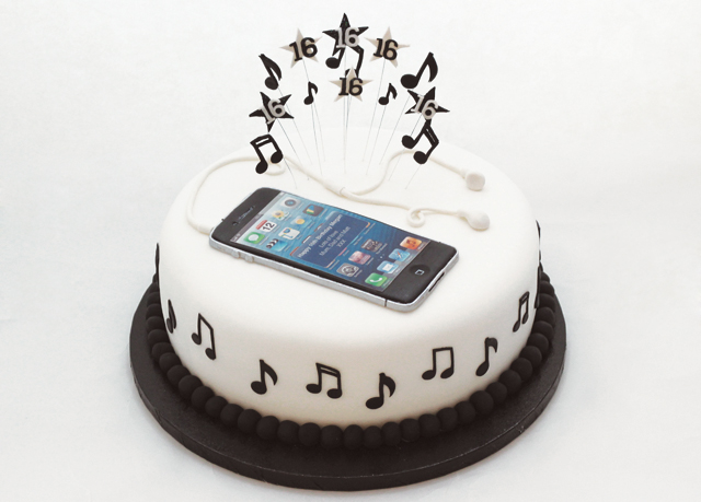 Edible Cake Images Iphone : Phone Message Template Cake Ideas and Designs