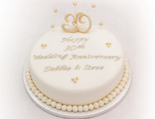 Cake Ideas For Pearl Wedding Anniversary : cake topper Archives - Cakey Goodness
