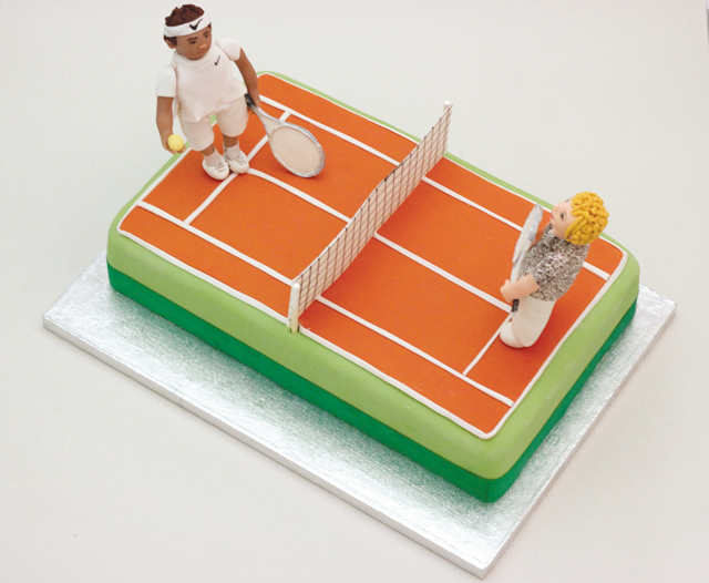 How To Make Tennis Court Cake