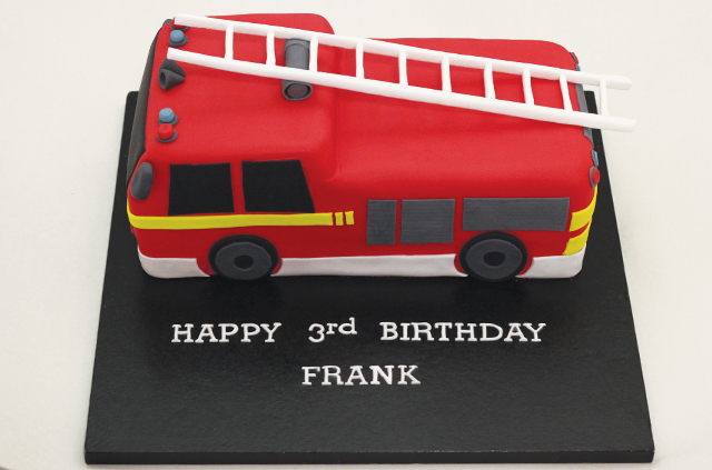 how to make a fire engine cake topper