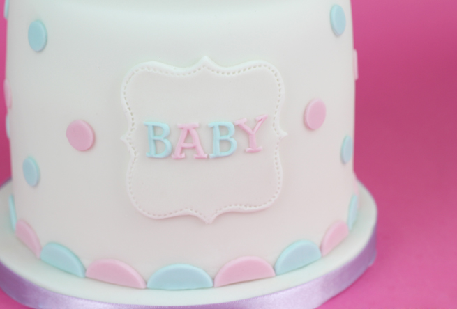 polka dot baby shower cake cakey goodness