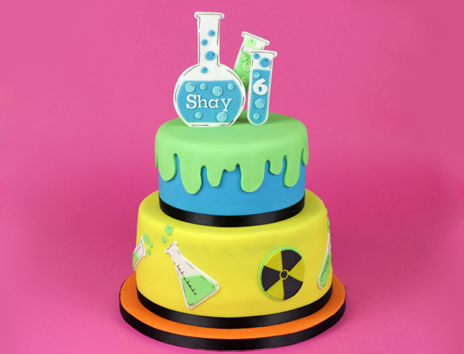 Mad Science Birthday Cake Toppers