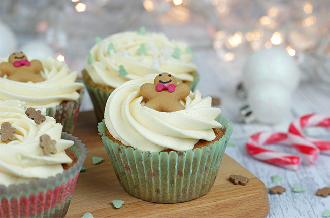 Gingerbread Chai Spiced Cupcakes - Cakey Goodness