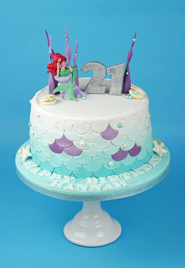 21st Birthday Ariel Cake Cakey Goodness
