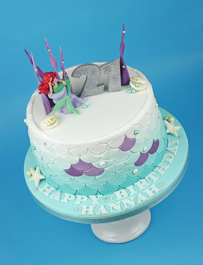 21st Birthday Ariel Cake Cakey Goodness