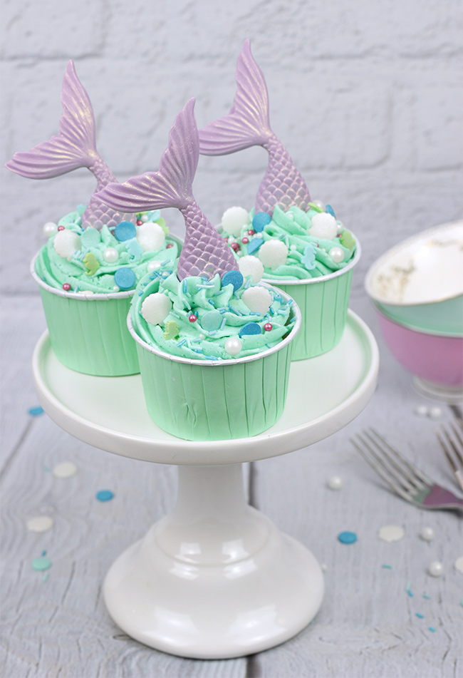 Mermaid Tail Cupcakes Cakey Goodness