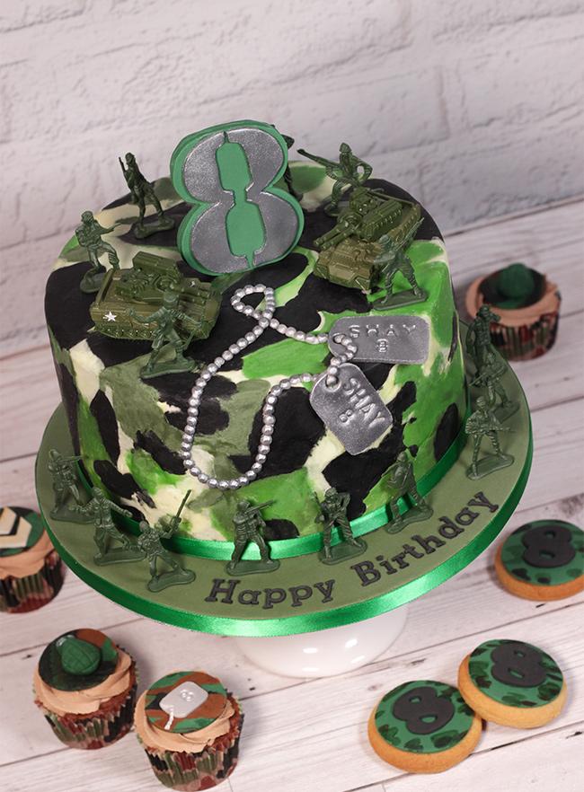 Camouflage Army Cake Cakey Goodness