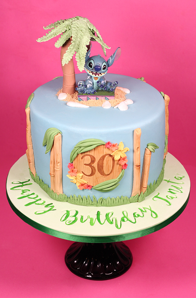 Disney Hawaiian Stitch Cake Cakey Goodness