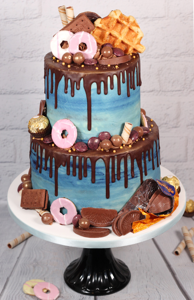 Chocolate Amp Biscuit Overload Chocolate Drip Cake Cakey