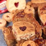 Jammy Dodger Bakewell Blondies
