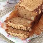 Banana and apple streusel loaf cake