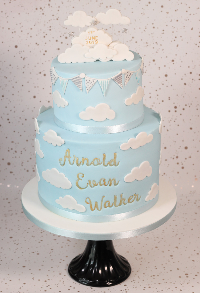 Cloudy Christening Cake Cakey Goodness