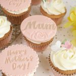 Blush pink & rose gold Mother's Day Cupcakes