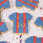 Barcelona Football shirt biscuit pops