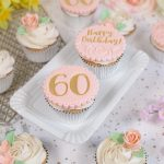 Pretty Vintage 60th Birthday Cupcakes