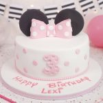 Minnie Mouse Inspired 3rd Birthday Cake