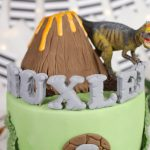 T-Rex and Volcano Cake