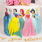 Princesses & Crown 3rd Birthday Cake