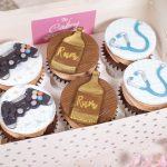 Gamer, rum & stethoscope Cupcake selection