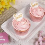 Pretty pink heart cupcakes