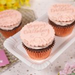 Rose Gold Birthday Cupcakes