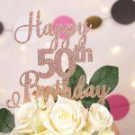 Rose Gold 50th Birthday Cake