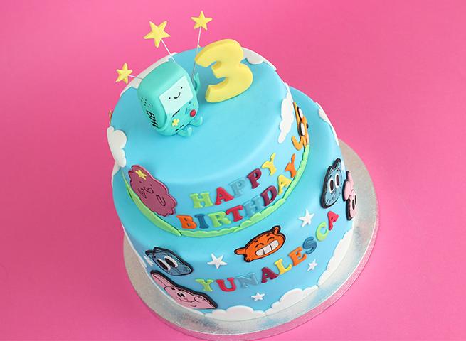 Adventure Time Amazing World Of Gumball Cake Cakey