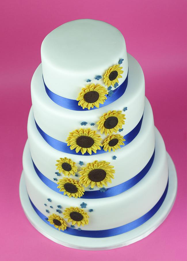 Sunflowers-Wedding-Cake
