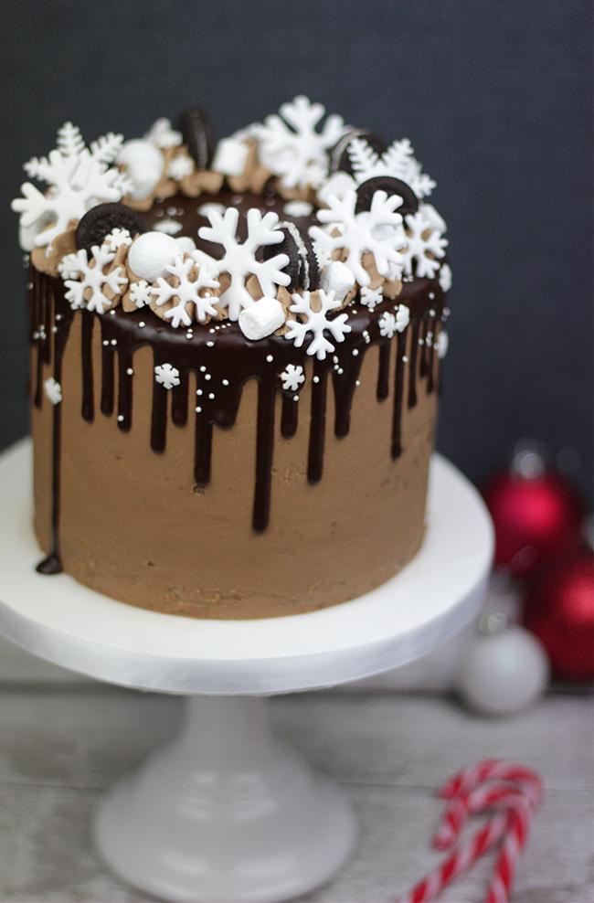 Snowflake Drip Cake Cakey Goodness