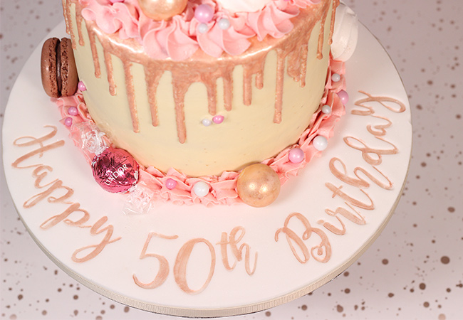 Incredible 50Th Birthday Cakes Archives Cakey Goodness Personalised Birthday Cards Sponlily Jamesorg