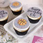 Basketball Birthday Cupcakes